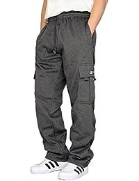 Men's Fleece Cargo Sweatpants Heavyweight M-5XL
