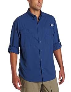 Columbia Men's Plus Tamiami II Long Sleeve Shirt, Night Tide - Large