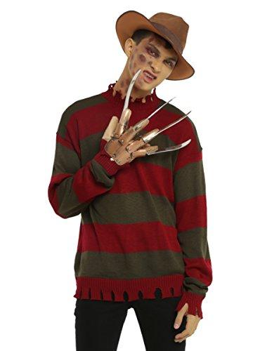[A Nightmare On Elm Street Freddy Krueger Costume Sweater] (Women Freddy Krueger Costumes)