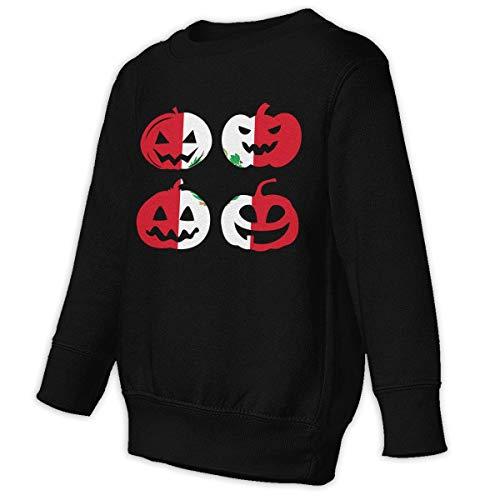 Peru Halloween Pumpkin Head Baby Girls Boys 2-6 Toddler Fleece Sweatshirt Sweaters -