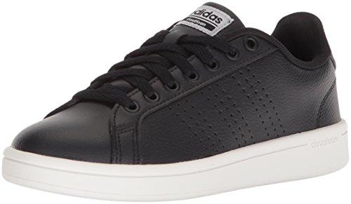 adidas Performance Women's Cf Advantage Cl Sneaker, Black/Black/Silver Metallic, 6.5 M US