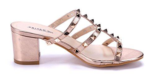 Schuhtempel24 Damen Schuhe Pantoletten Sandalen Sandaletten Schwarz Keilabsatz 7 cm Auslassstellen rUIYBwz5