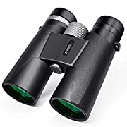 #LightningDeal 12x42 Binoculars for Adults - HD Low Light Night Vision - Compact Lightweight (1.05lb) - Powerful BAK4 Prism FMC Lens - Waterproof Binoculars for Bird Watching, Hunting, Sports -Phone Adapter Included