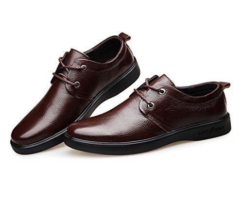 D'affaires en Hommes Brown Cuir Cuir Chaussures de Travail Occasionnels Chaussures pour LEDLFIE en Chaussures FqUAXA