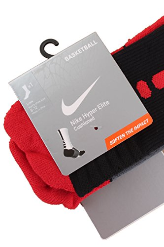Red University Basketball Hyperelite Black Crew Nike Socks qRxzXYqO
