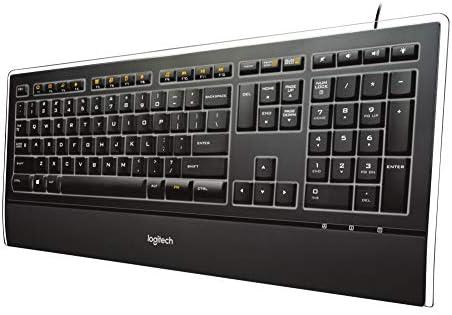 Logitech Illuminated Ultrathin Keyboard K740 with Laser-Etched Backlit Keyboard and Soft-Touch Palm Rest – Black 41kKSiTKWEL