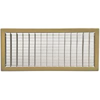 Shoemaker 1600-12X30 - 12 x 30 Brown Return Air Floor Grille