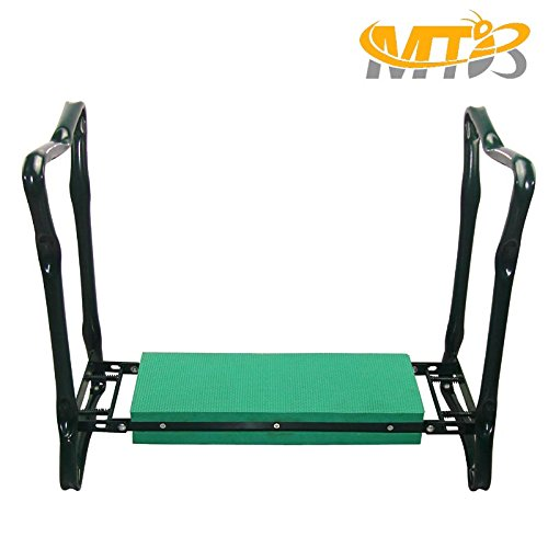MTB Heavy Duty Folding Garden Kneeler Bench for weeding and Portable Garden Stool Seat With Bonus Tool Pouch, EVA Kneeling Pad
