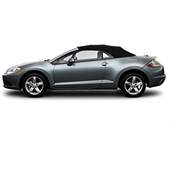 mitsubishi eclipse spyder convertible top 2006 2011 in cabrio grain vinyl with heated glass window black