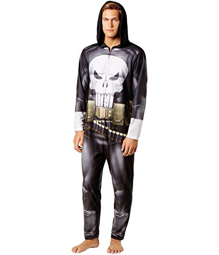 The Punisher Costumes (Briefly Stated Men's Punisher Jumpsuit Pajama Black Combo)