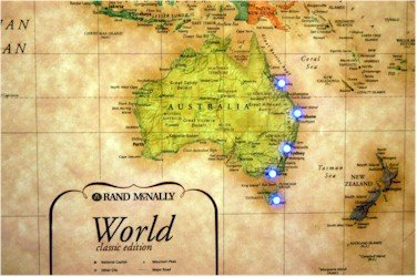 Lightravels Classic World Illuminated Map