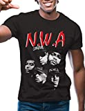 unit clothing t shirts - Swag Point Hip Hop T-Shirt - Funny Vintage Street wear Hipster Parody (XXL, NWA-BLK)