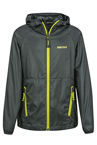 Marmot Ether Boys' Lightweight Hooded Windbreaker Jacket, Dark Zinc, (Marmot Trail Light)