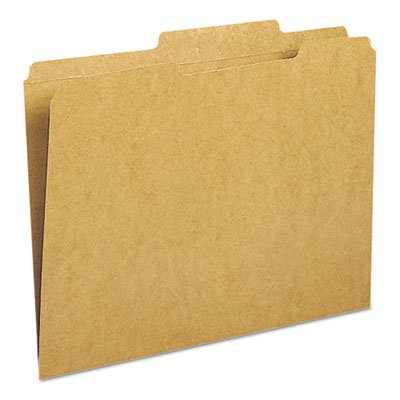 Kraft File Folder, 2/5 Cut Right, Two-Ply Top Tab, Letter, Kraft, 100/Box, Sold as 100 Each