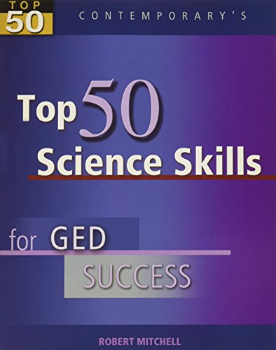 Top 50 Science Skills for GED Success, Student Text with CD-ROM (GED Calculators)