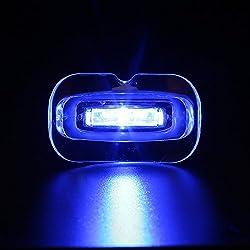 GUANLIAN Teeth Whitening, Safe whitening Gel Oral Care Mini Blue Teeth Whitening LED Accelerator Light.