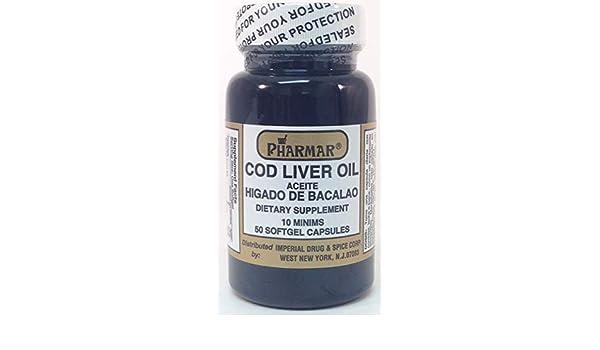 Amazon.com: Aceite De Higado De Bacalao Capsules 50s Cod Liver Oil: Health & Personal Care
