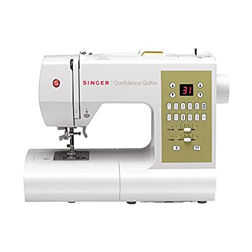 SINGER 7469Q Confidence Quilter Computerized Electronic Portable Sewing, With 98 Built-In Stitches - 6 Fully Automatic 1-step Buttonhole, 77 Decorative ...