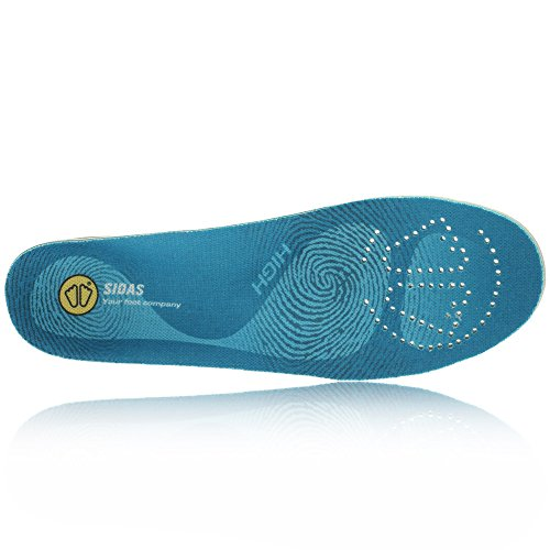 Sidas 3-Feet High Insoles (High Arch), Blue, Large (Mens-9 to 10/Womens-10 to 11)