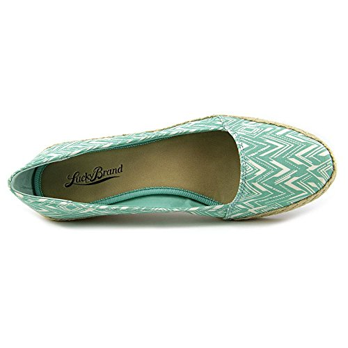 Lucky Brand Womens Tomlinn Fabric Closed Toe Loafers White Florida Green Chevron ZT2FINvX