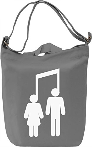 Music Connects Borsa Giornaliera Canvas Canvas Day Bag| 100% Premium Cotton Canvas| DTG Printing|