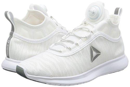 Flame Course Blanc Cassé Running White Femme Plus Pump Met Reebok De bianco silver Chaussures qSw0gwXx