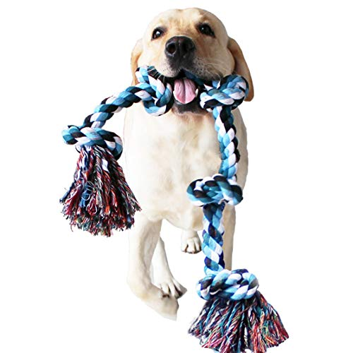 Large Dog Rope Chew Dog Tug Toys for Medium to Large Dogs Tough Aggressive Chewers Indestructible Rope for Large Breed Dog Tug of War Dog Toy Tooth Cleaning Active Chewing