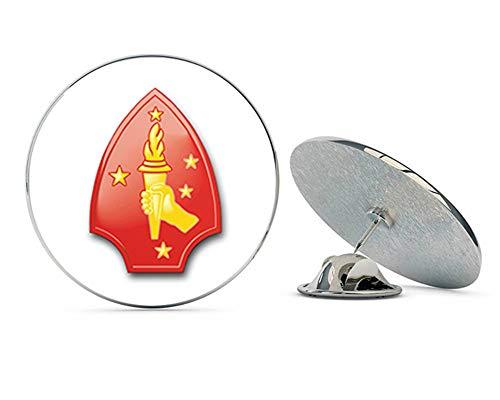 Veteran Pins USMC US Marine Corps 2nd Division Steel Metal 0.75