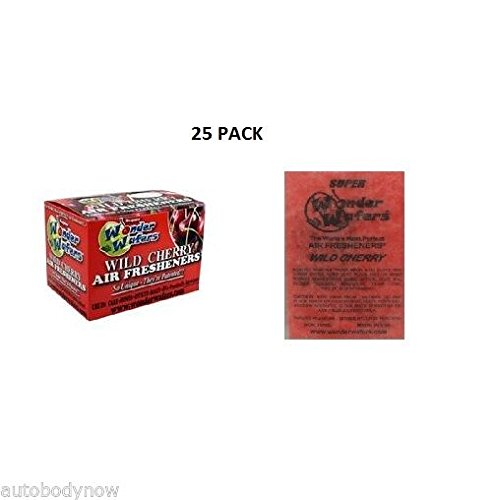 Wonder Wafers 25 CT Individually Wrapped Wild Cherry Air Fresheners (Wonder Wafers)