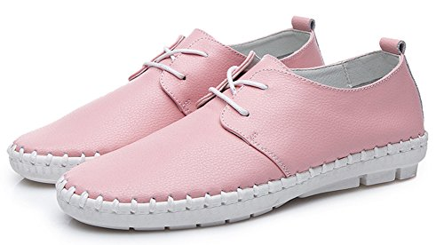 Aisun Women's Cheap New Lace Up Low Top Sneakers Pink ZuC2ueCr