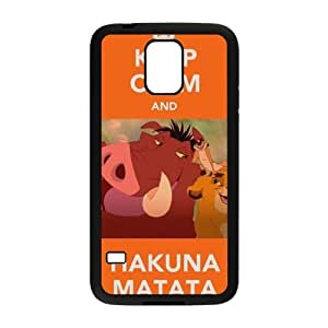 WEIWEI Keep Calm and Hakuna Matata Cell Phone Case for Samsung Galaxy S5