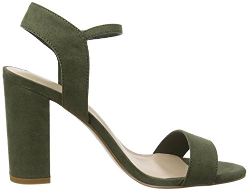 New Look Strike, Sandalias con Tacón Mujer Verde (Dark Khaki)