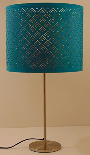 Ikea Nymo Table Lamp 27 25 Nickel Plated Turquoise Shade Uses