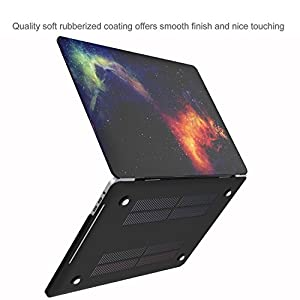 MacBook Pro 13 Case 2017 2016 Release A1706/A1708, ProCase Hard Case Shell Cover and Keyboard Skin Cover for Apple Macbook Pro 13 Inch with/without Touch Bar and Touch ID -Galaxy Fire and Ice