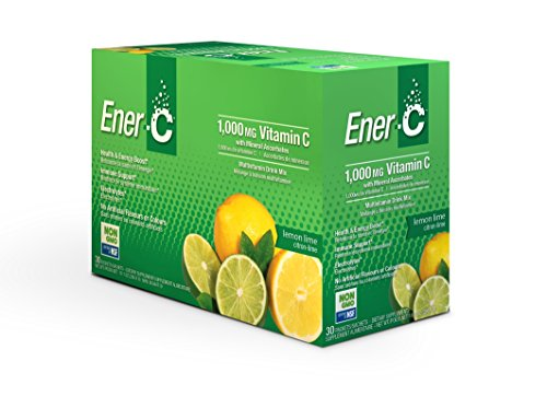 Effervescent Powder Packets (Ener-C Lemon Lime Effervescent Multivitamin Non-GMO Gluten-Free Vegan Powdered Fruit Juice Drink Mix for Immune Support and Hydration with Electrolytes 30 Packets)