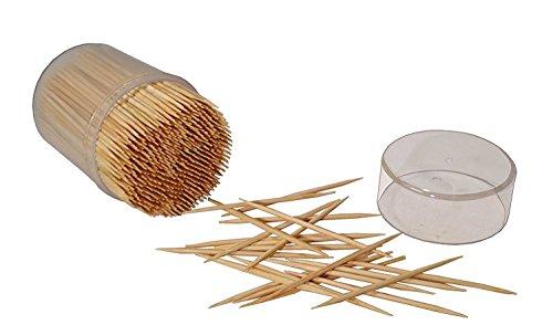 MontoPack Bamboo Wooden Toothpicks 2 X 500 (1000pcs)