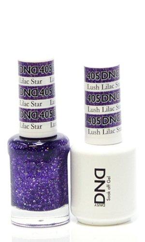 DND *Duo Gel*  Glitter Set 405 - Lush Lilac Star