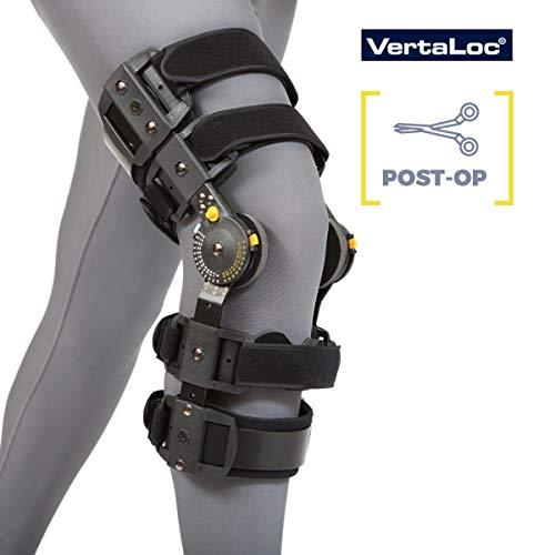 VertaLoc MAX OA Hinged Knee Brace Fully Adjustable Heavy Duty Perfect for Post-Ops, Osteoarthritis, Meniscus Tears and Sprains - Left Medium