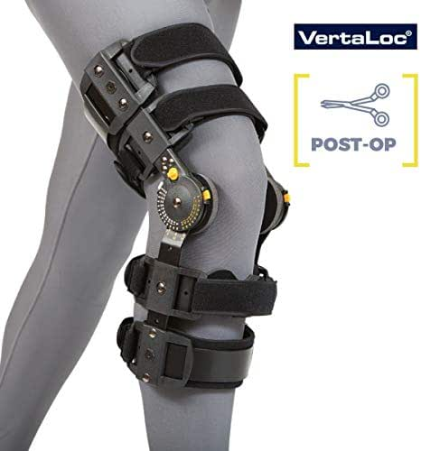 VertaLoc MAX OA Hinged Knee Brace Fully Adjustable Heavy Duty Perfect for Post-Ops, Osteoarthritis, Meniscus Tears and Sprains - Left Medium