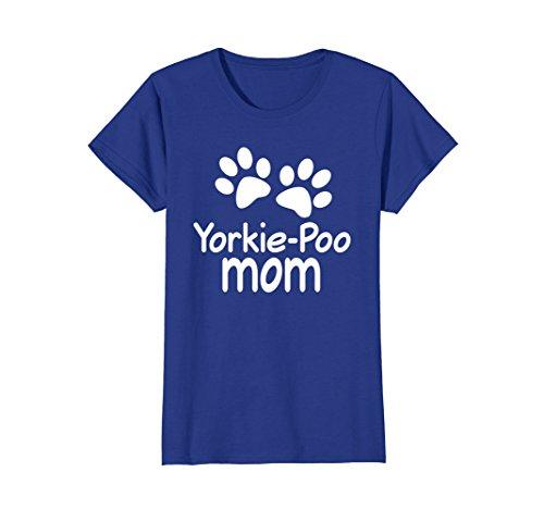 Yorkie Poo Mom T-shirt Paw Print