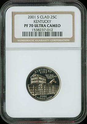 2001 S Kentucky Quarter NGC Clad PF-70 UCAM