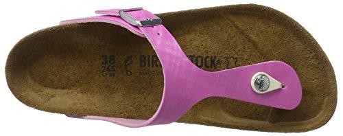 Birkenstock Gizeh Birko-Flor, Chanclas para Mujer Pink (Check Rose)