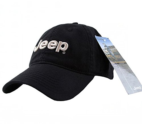 Jeep Unisex Adjustable Horizon Classic Cap (Black, Free Size)