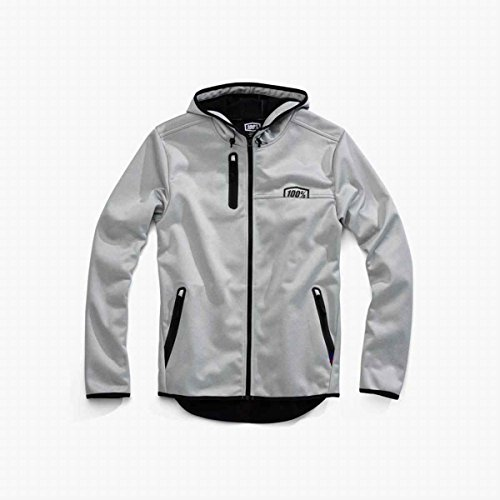 100% Mission Hooded Jacket (LARGE) (GREY) by 100%
