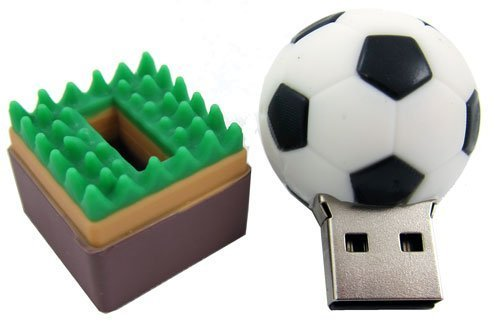 D-CLICK TM High Quality 4GB/8GB/16GB/32GB/64GB/Sport Ball Shape USB High speed Flash Memory Stick Pen Drive Disk (4GB, Soccer)