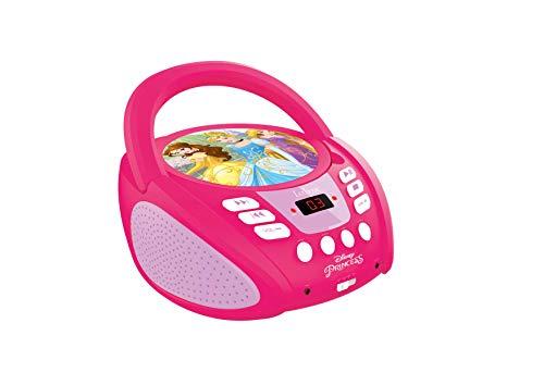 LEXiBOOK Disney Princess Boombox Radio CD Player (Cd Disney Princess Boombox)
