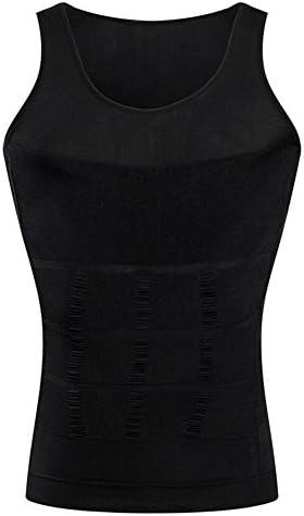 BaronHong Gynecomastia Compression Shirt Vest per Nascondere Uomo Boobs Moob Slimming Mens Shapewear Flatten Tutto laddome