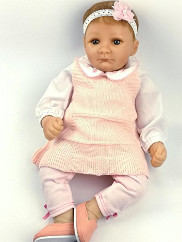 AVANI DOLL ''Nancy'',20 inch Reborn Baby Doll Handmade Soft Vinyl Baby Doll That Looks Real,Realistic Lifelike Baby Girl Doll