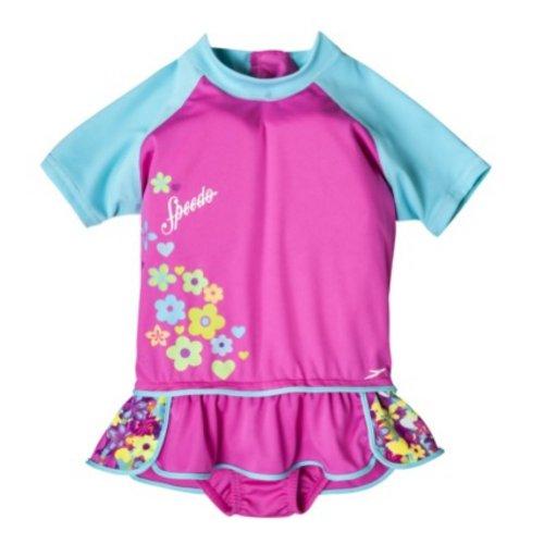 Speedo Toddler Girls Pink Polywog Swimming Suit Swim Trainer Flotation M/L