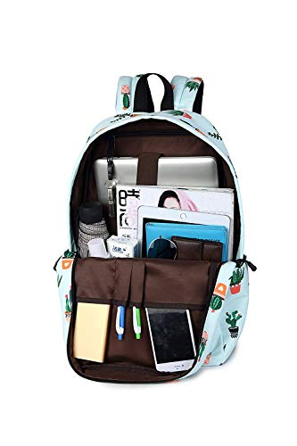 ZHANGQIAN School Girls For Backpack Teenage Purse Women Backpack Cactus Print Backpackleisure pIZIqwr